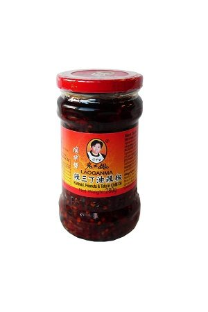 Laoganma Kohlrabi , Peanuts & Tofu in Chilli Oil/老干妈 辣三丁