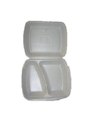 Takeaway rasia VALKOINEN ohut styrox 2-osainen/两格打包盒