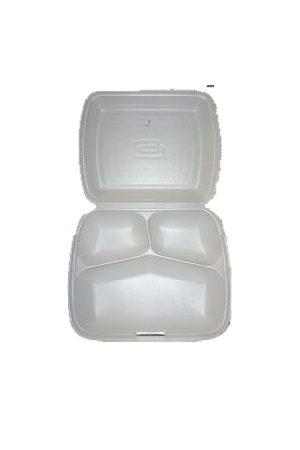 Takeaway Rasia VALKOINEN ohut styrox 3-osainen/三格外卖盒