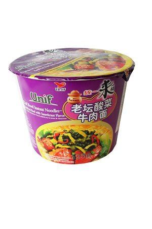 Super Bowl Instant Noodle Beef&Sauerkraut/统一老壇酸菜桶面