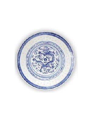 """Plate 9""""  RICECORN/青花瓷盘子22,86cm"""