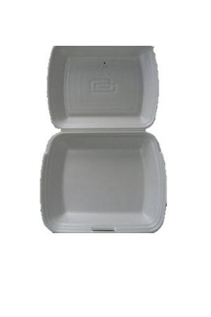 Takeaway Rasia VALKOINEN ohut styrox 1-osainen/一格打包盒