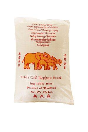 Jasmin Riisi 100% Triple Gold Elephant 20kg/ 金象 泰国茉莉花香整米